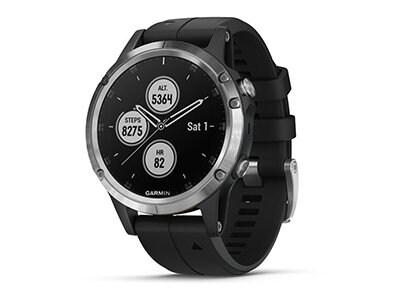 Smartwatch Garmin fenix 5 Plus Ασημί/Μαύρο