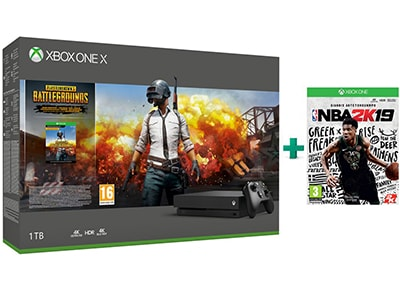 Microsoft Xbox One X 1TB Μαύρο & PlayerUnknown's Battlegrounds & NBA 2K19