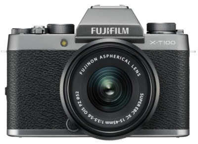 Mirrorless Camera Fujifilm X-T100 XC 15-45mm Ασημί