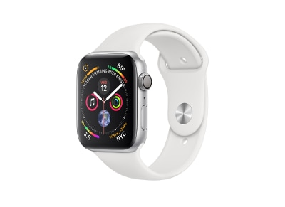 Apple Watch Series 4 40mm Aluminum Silver Sport Band White