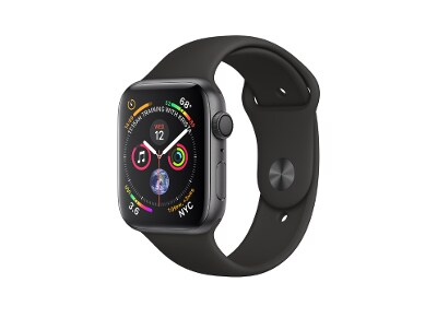 Apple Watch Series 4 44mm Aluminum Space Grey Sport Band Black
