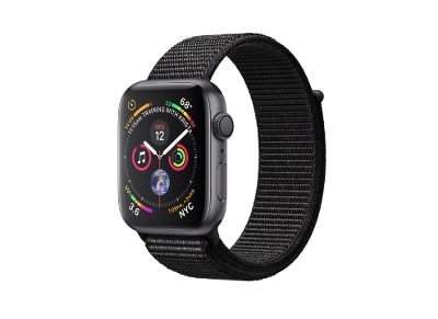 Apple Watch Series 4 44mm Aluminum Space Gray Sport Loop Black