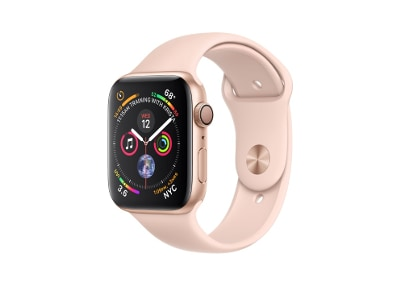 Apple Watch Series 4 44mm Aluminum Gold Sport Band Pink Sand