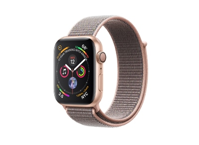 Apple Watch Series 4 44mm Aluminum Gold Sport Loop Pink Sand