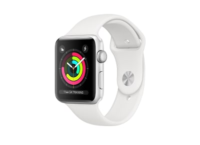 Apple Watch Series 3 42mm Aluminum Silver Sport Band White (2018)