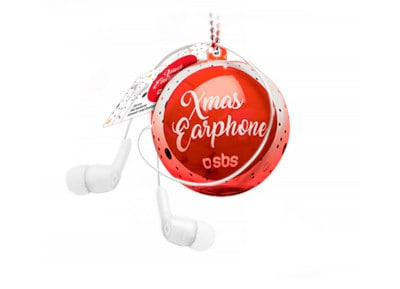 Handsfree SBS Xmas Ball In Ear Λευκό