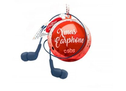 Handsfree SBS Xmas Ball In Ear Μπλε