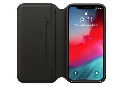 Θήκη iPhone XS Max - Apple Leather Folio - Black