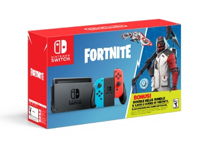 Nintendo Switch Neon Red/Neon Blue - Fortnite Double Helix Bundle
