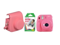 Camera Fujifilm Instax Mini 9 Flamingo Pink & Fujifilm Instax Mini Instant Film 10 χαρτάκια & Θήκη Instax
