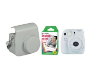 Camera Fujifilm Instax Mini 9 Smoky White & Fujifilm Instax Mini Instant Film 10 χαρτάκια & Θήκη Instax