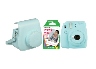 Camera Fujifilm Instax Mini 9 Ice Blue & Fujifilm Instax Mini Instant Film 10 χαρτάκια & Θήκη Instax