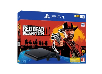 Sony PS4 Slim 1TB Μαύρο & Red Dead Redemption 2 gaming   κονσόλες   ps4
