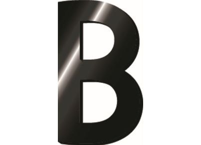 e476afa04b2 Μεταλλικό Γράμμα Legami B με Αυτοκόλλητο