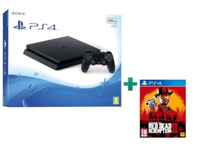 Sony PlayStation 4 - 500GB Slim D Chassis & Red Dead Redemption 2 gaming   κονσόλες   ps4