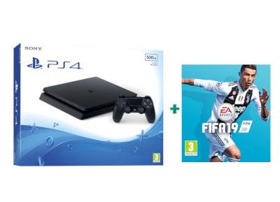 Sony PlayStation 4 - 500GB Slim D Chassis & FIFA 19 PS4 gaming   κονσόλες   ps4