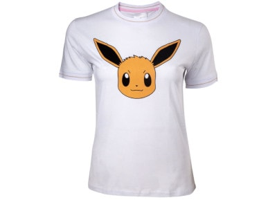 T-Shirt Difuzed Eevee Pokemon Λευκό S