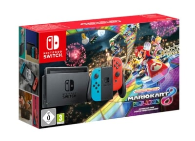 Nintendo Switch Neon Red/Neon Blue & Mario Kart 8 Deluxe - Κονσόλα Nintendo