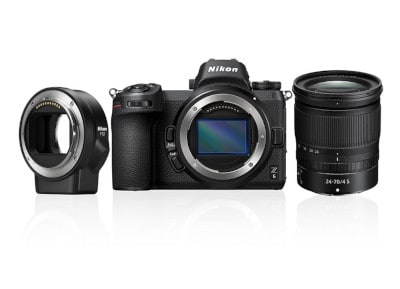 Mirrorless Nikon Z6 & φακός NIKKOR Z 24–70mm f/4 S & FTZ Adapter Μαύρο
