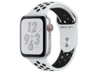 Apple Watch Nike+ Series 4 44mm Silver Aluminum Black Sport Band