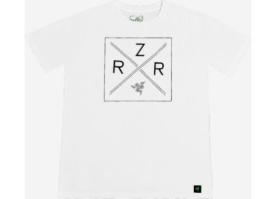 T-Shirt Razer Lifestyle Chroma Shield Λευκό - XXXL