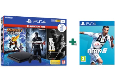 Sony PS4 1TB Slim Μαύρο & The Last of Us Remastered & Ratchet & Clank & Uncharte gaming   κονσόλες   ps4