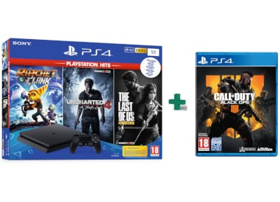 Sony PS4 1TB Slim Μαύρο & The Last of Us Remastered & Ratchet & Clank & Call of  gaming   κονσόλες   ps4