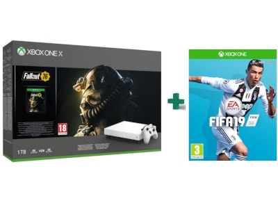 Microsoft Xbox One X Robot White 1TB & Fallout 76 Special Edition & Fifa 19