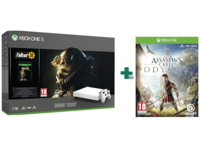 Microsoft Xbox One X Robot White 1TB & Fallout 76 Special Edition & Assassin's Creed Odyssey