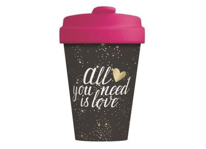 Κούπα Bamboo Cup  All You Need Is Love Gold