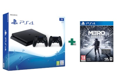 Sony PlayStation 4 - 1TB Slim D Chassis & 2ο Χειριστήριο & Metro Exodus Day One  gaming   κονσόλες   ps4