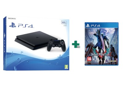 Sony PlayStation 4 - 500GB Slim D Chassis & Devil May Cry 5 gaming   κονσόλες   ps4