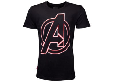 T-Shirt Difuzed Avengers- Character Names - Μαύρο M