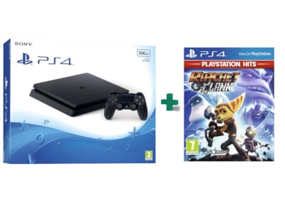 Sony PlayStation 4 - 500GB Slim D Chassis & Ratchet & Clank PlayStation Hits