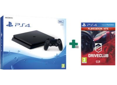Sony PlayStation 4 - 500GB Slim D Chassis & DriveClub PlayStation Hits - PS4 Game