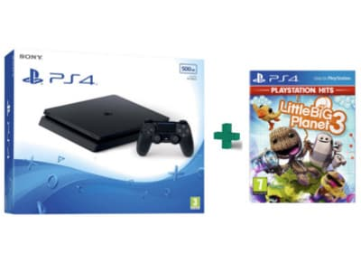 Sony PlayStation 4 - 500GB Slim D Chassis & LittleBig Planet 3 PlayStation Hits - PS4 Game