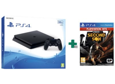 Sony PlayStation 4 - 500GB Slim D Chassis & inFamous: Second Son PlayStation Hits - PS4 Game