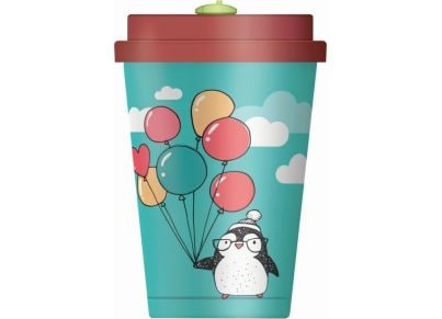 Κούπα Happy Bamboo Penguins with Balloons