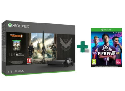 Microsoft Xbox One X 1TB & Tom Clancy's The Division 2 & FIFA 19
