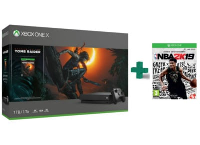 Microsoft Xbox One X 1TB Μαύρο & Shadow of the Tomb Raider & NBA 2K19