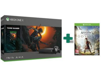 Microsoft Xbox One X 1TB Μαύρο & Shadow of the Tomb Raider & Assassin's Creed Odyssey