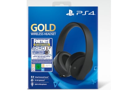 Sony PS4 Gold Wireless Headset - Gaming Headset Μαύρο - Fortnite Neo Versa bundles