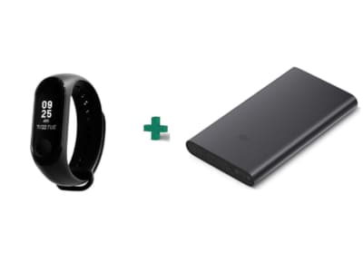 Activity TR Mi Band 3 & Powerbank 10000mAh Μαύρο