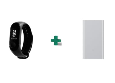 Activity TR Mi Band 3 & Powerbank 10000mAh Ασημί