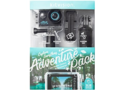 Action Camera Kitvision 1080p Wifi  -  Adventure Pack