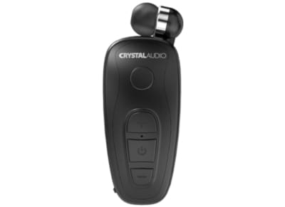 Bluetooth Handsfree Crystal Audio R-1 Retractable  - Μαύρο
