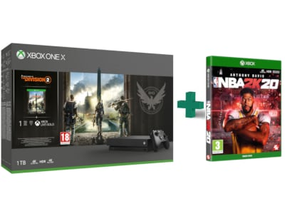 Microsoft Xbox One X 1TB &Tom Clancy's The Division 2 & NBA 2K20