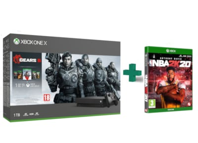 Microsoft Xbox One X 1TB & Gears 5 Bundle & NBA 2K20