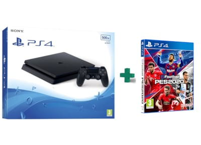 Sony PlayStation 4 - 500GB Slim F Chassis  & eFootball Pro Evolution Soccer 2020 - PS4 Game