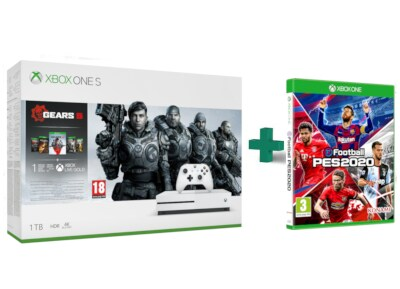 Microsoft Xbox One S White - 1TB & Gears 5 Bundle & eFootball Pro Evolution Soccer 2020
